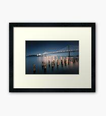 The Bay Bridge Natural Framed Print