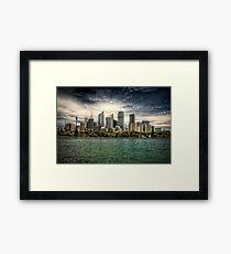 Sydney HDR Framed Print