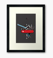 Geek Army Knife Framed Print