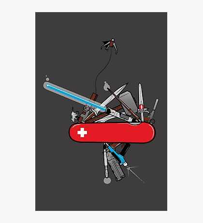Geek Army Knife Photographic Print