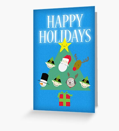 The Shape of Christmas Greeting Card