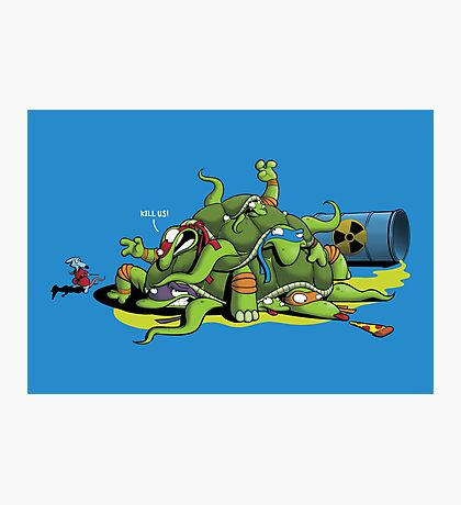 Hideously Mutated Ninja Turtles Photographic Print