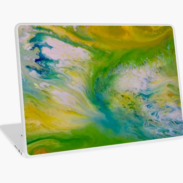 cosmic energy wave Laptop Skin