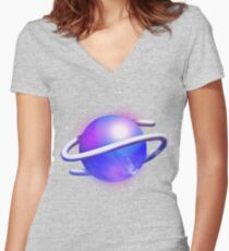 Sega Saturn Forever Women's Fitted V-Neck T-Shirt