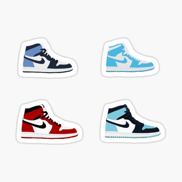jordan 1 pack Sticker