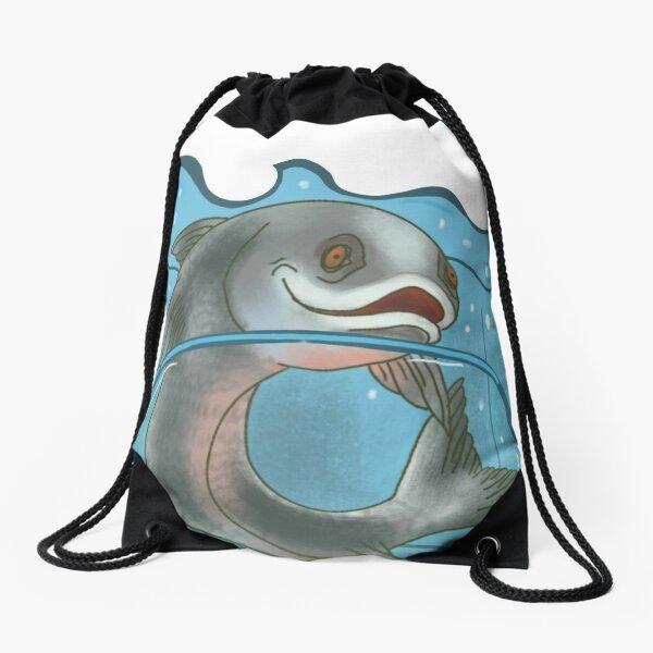 Je t'adore pêcher dans un sac Sac à cordon