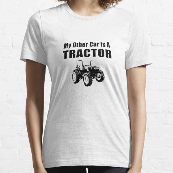 My Other Car Is A Tractor Black & White Illustration Essential T-Shirt