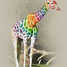 Rainbow Giraffe by Kitty Bitty