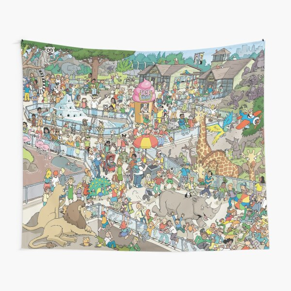 Zoo Escape Tapestry