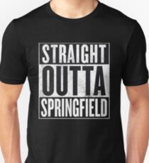 Straight Outta Springfield - The Simpsons Unisex T-Shirt