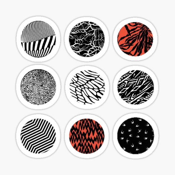 cercles de flou autocollants individuels Sticker