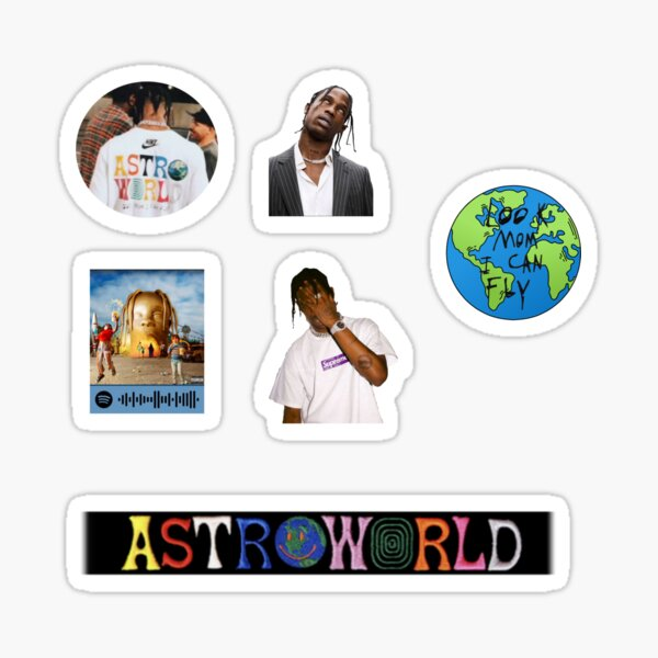 Travisscott stickers pack Glossy Sticker