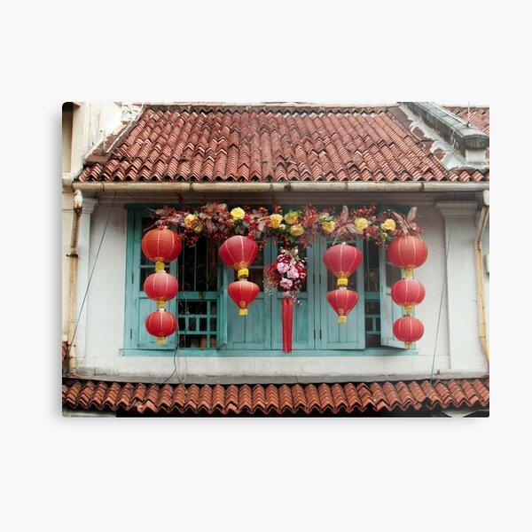 Singapore Windows Metal Print