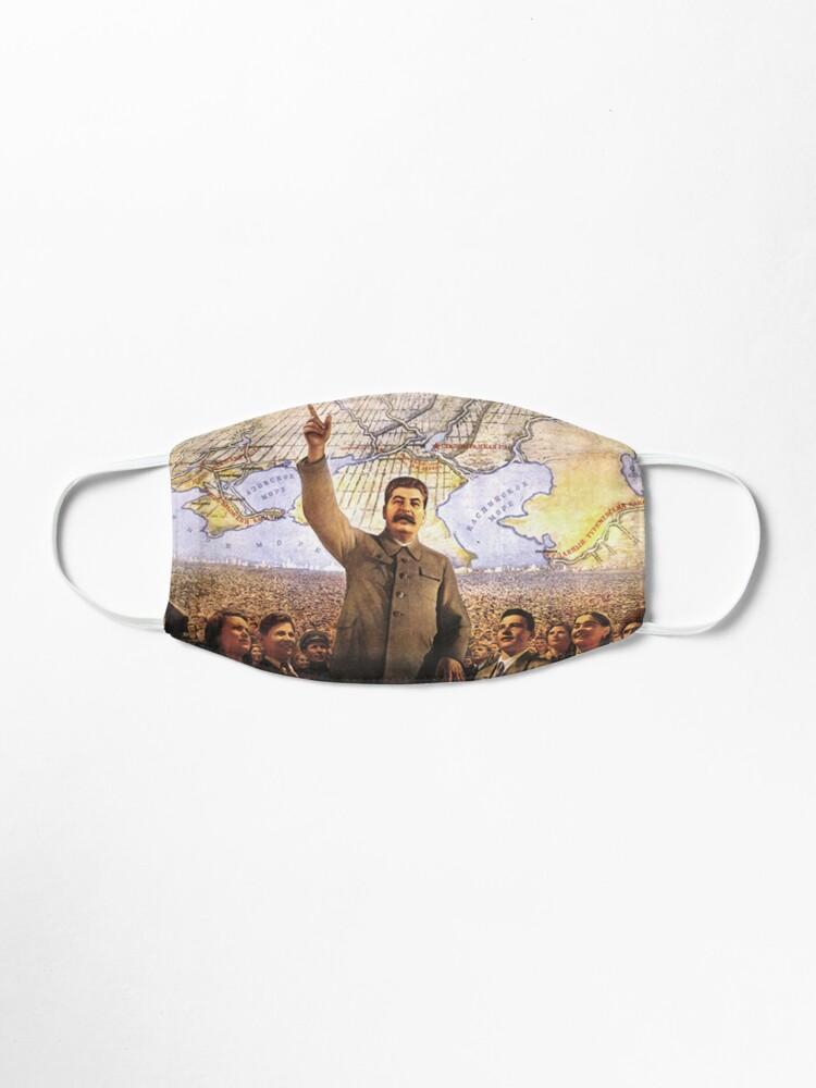 Alternate view of Communism Poster. The Great Plan for the Transformation of Nature, великое преобразование природы, velikoye preobrazovaniye prirody Mask