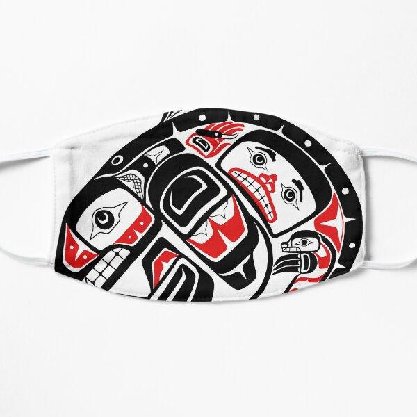 BLACKFISH - PNW Alaska, Tlingit style orca killer whale Flat Mask
