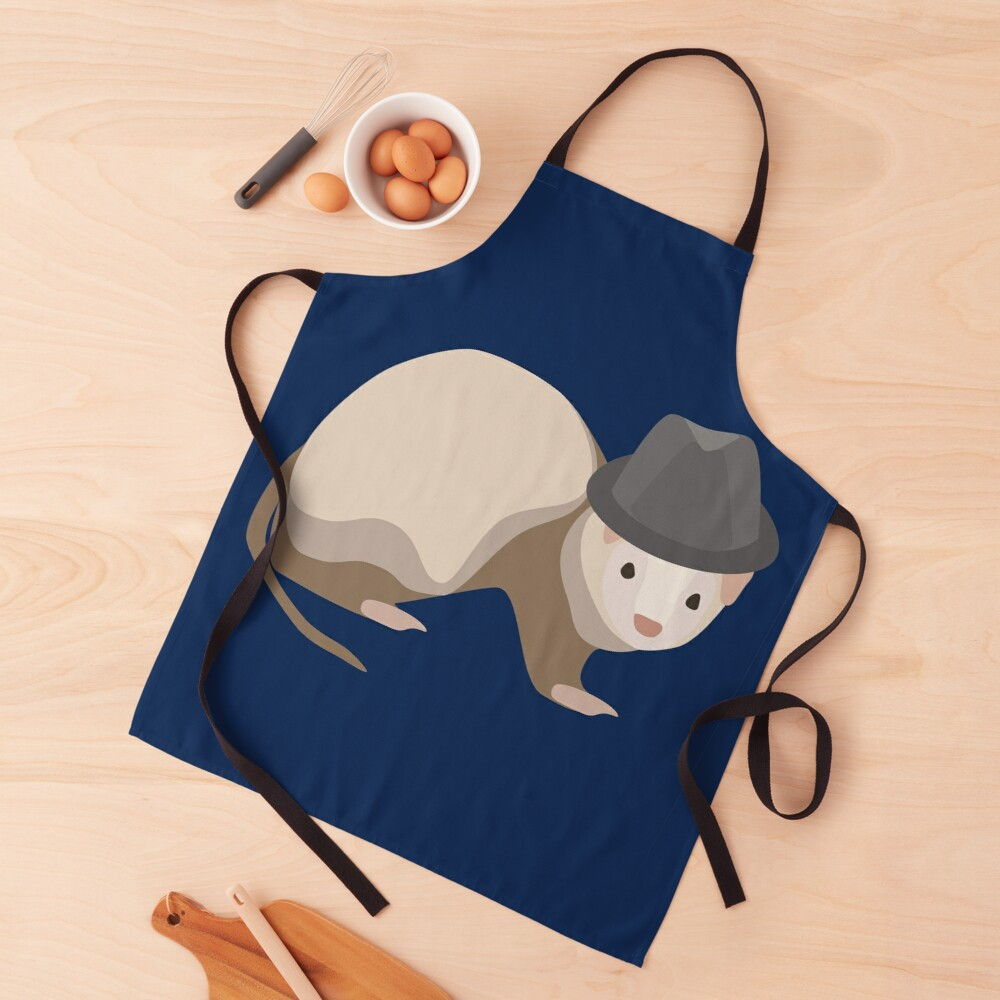NDVH Ferret Wearing a Trilby Apron
