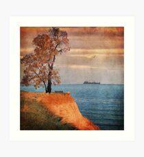 Autumn by the sea Art Print