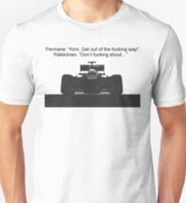 Räikkönen: Don't fucking shout t-shirt T-Shirt