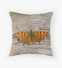 Comma Butterfly Throw Pillow
