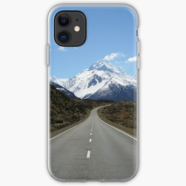 The road to Mount Cook iPhone Soft Case