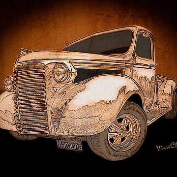 39 Chevy Pickup Drawing by ChasSinklier