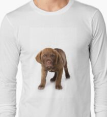 Funny brown puppy retriever Long Sleeve T-Shirt