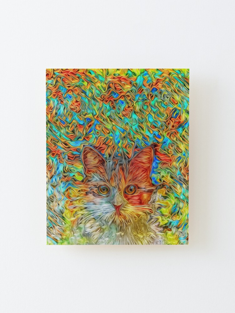 Alternate view of Abstract Cat Mounted Print