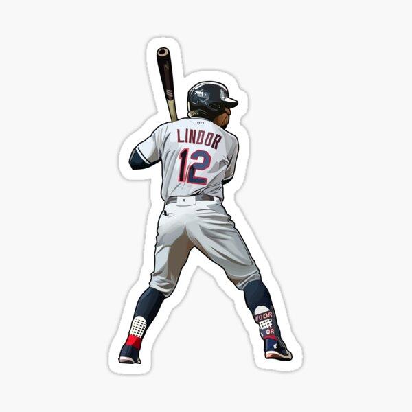 Francisco Lindor #12 Bats Sticker