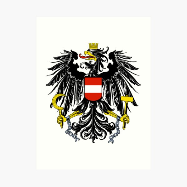 Austria Coat of Arms  Art Print