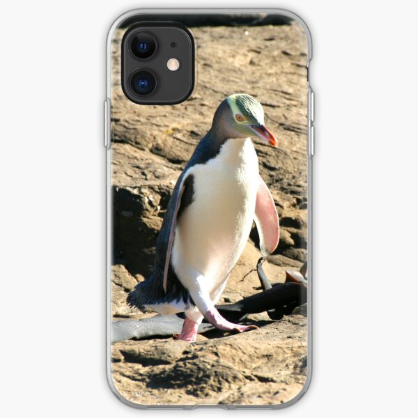 Yellow-eyed Penguin Walking iPhone Soft Case