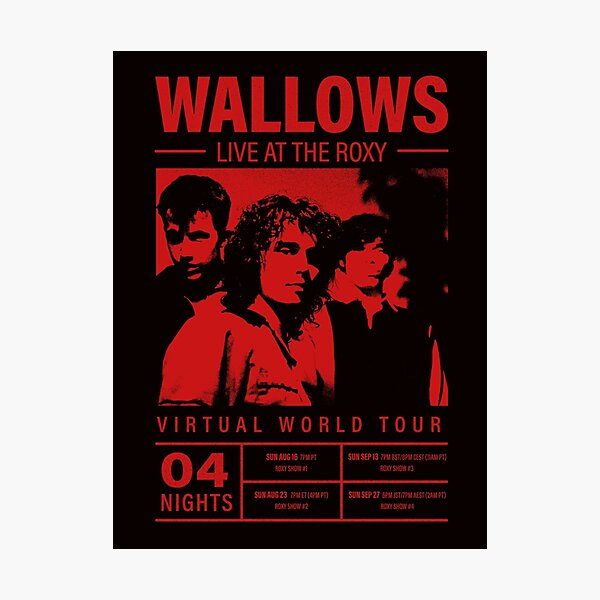 Wallows Virtual World Tour At The Roxy Poster  Photographic Print