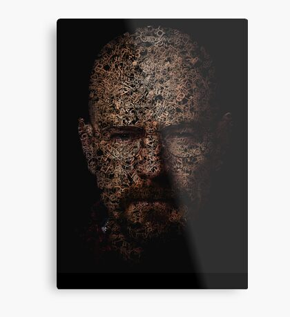 Walter White, Typographic Man of Chemistry Metal Print