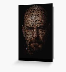 Walter White, Typographic Man of Chemistry Greeting Card