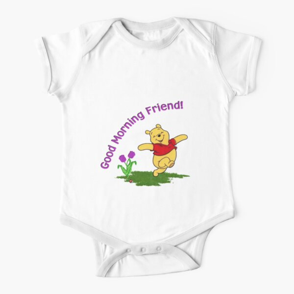 good morning friend Short Sleeve Baby One-Piece