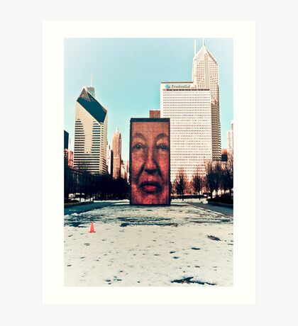 Face Fountain Art Print