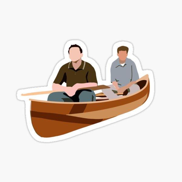 Joey and Chandler Canoe Glossy Sticker