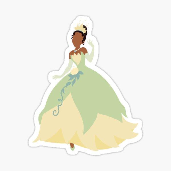 silueta princesa Pegatina