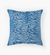 Joy Division Inspired Cyanotype Throw Pillow