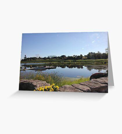 Peaceful Vineyard Greeting Card