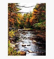 New England Autumn River Photographic Print