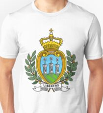 San Marino | Europe Stickers | SteezeFactory.com Unisex T-Shirt