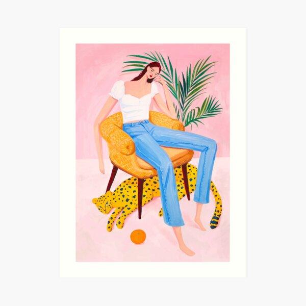 Bohemian Pink Room Art Print