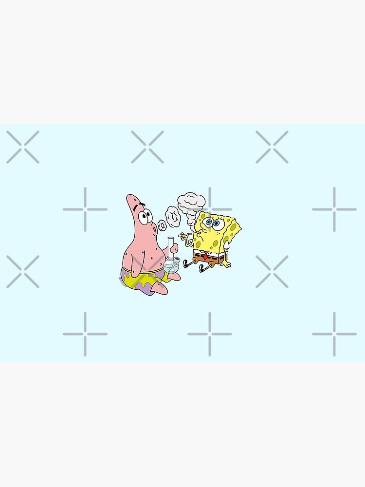 Spongebob and Patrick Smoking Weed Cannabis Cartoon Art by p0tstitute