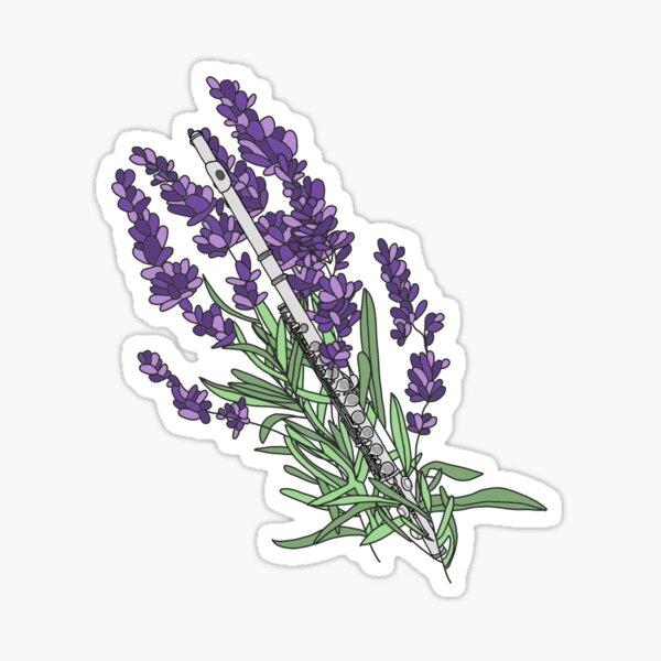 Flute and Lavender  Sticker