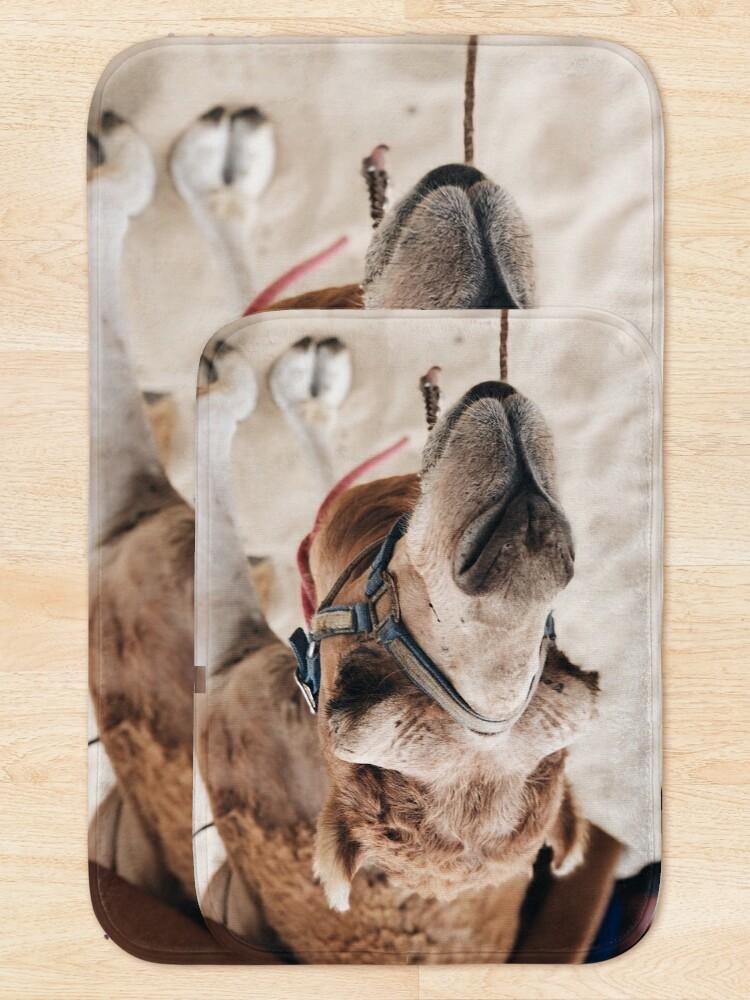 Alternate view of Camel in the desert Bath Mat