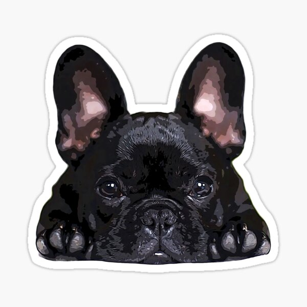 French Bulldog Black Puppy Dog Sticker