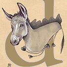 D is for DONKEY by busymockingbird