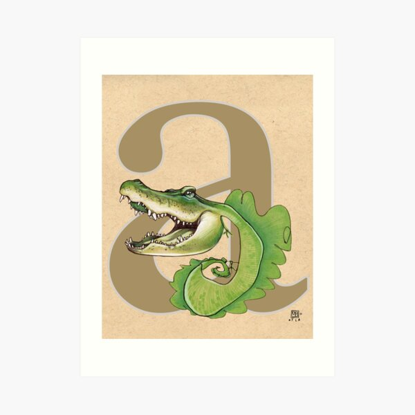 A is for ALLIGATOR Art Print