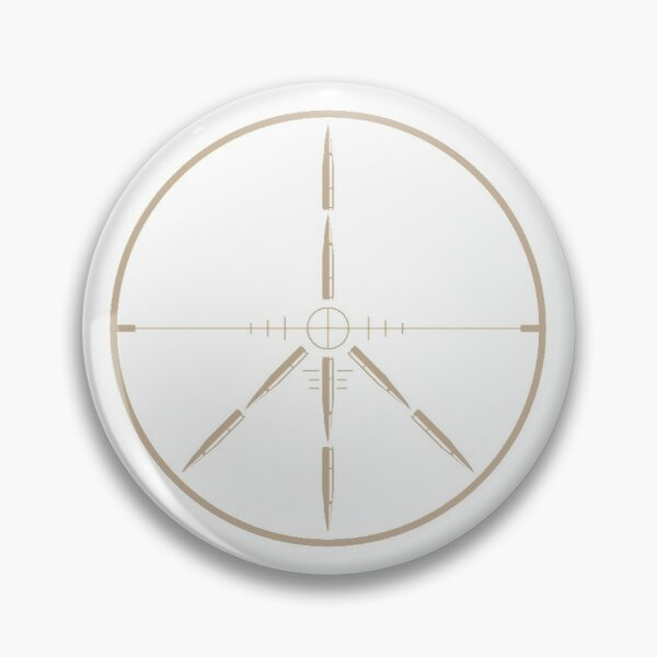 Peace Through Superior Weaponry Pin