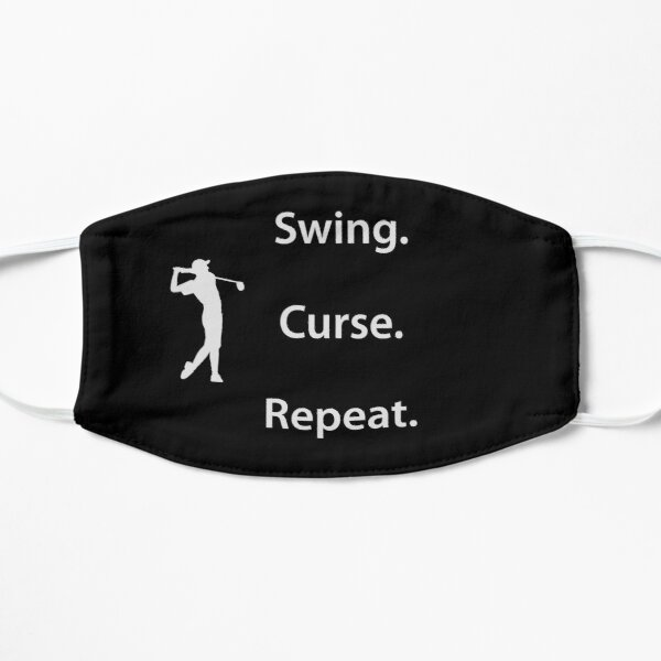 Swing. Curse. Repeat. Golf masks Mask
